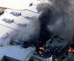 Plane crashes into shopping centre near Melbourne