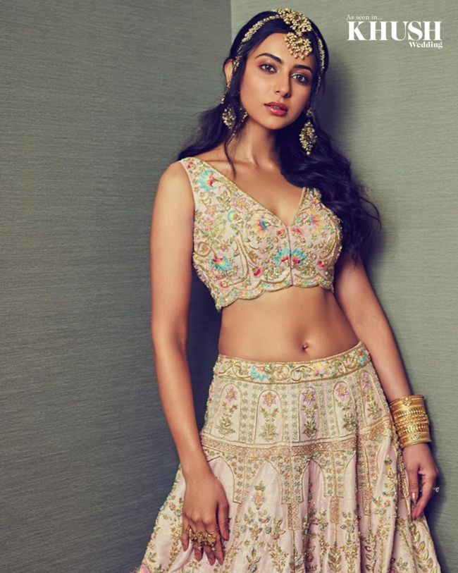 Rakul Preet Bridal Lehnga Choli Hot