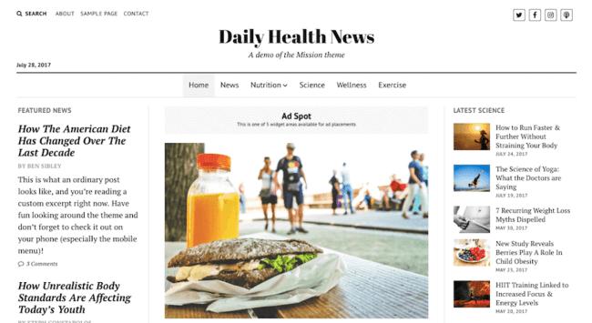 Mission News Free WordPress Theme