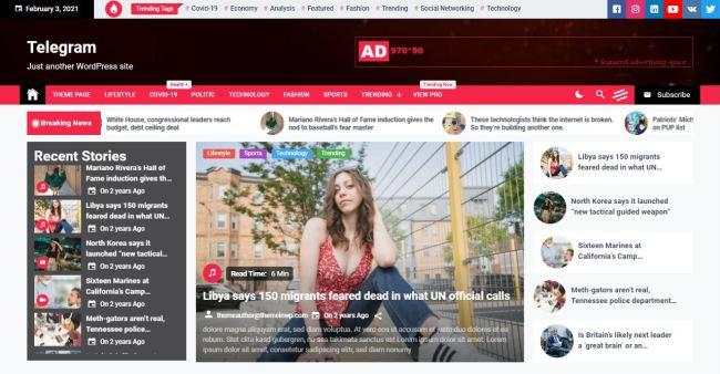 best free WordPress news themes