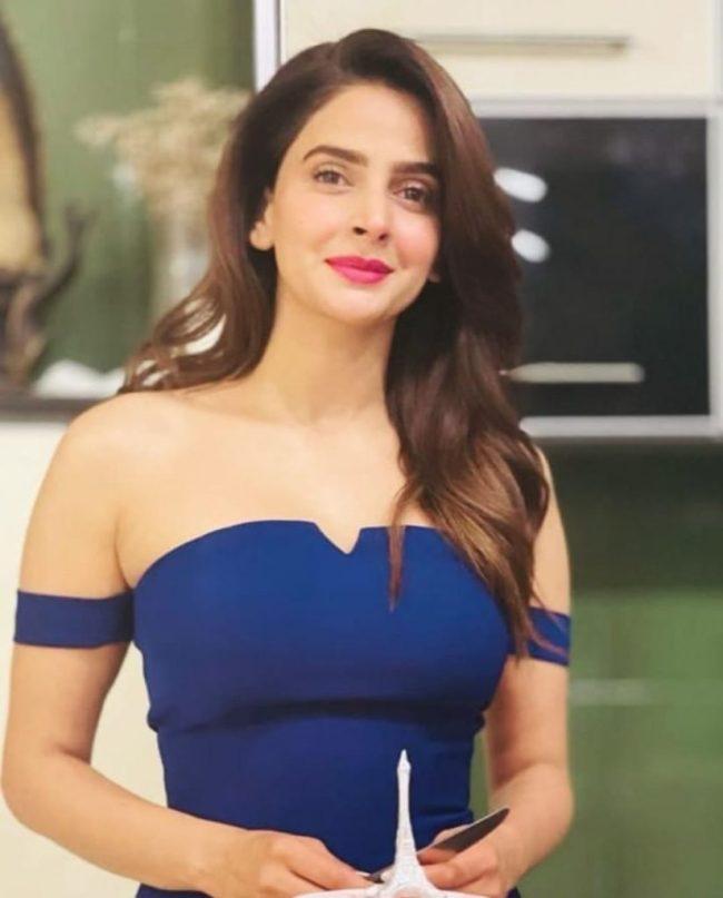 Saba Qamar Birthday Dress