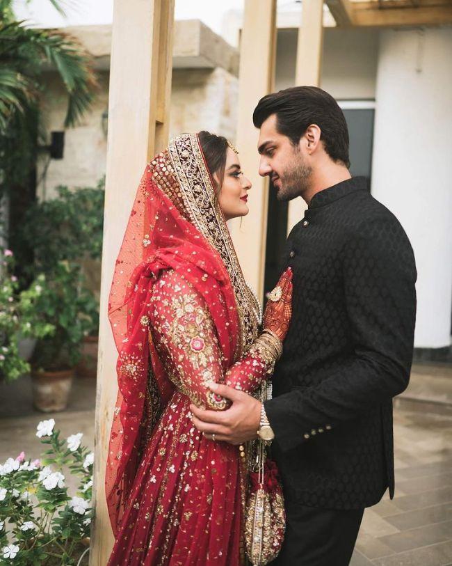 Minal Khan with Husband Ahsan Mohsin Ikram
