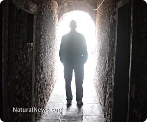 Dark-Figure-Walk-Tunnel-Light
