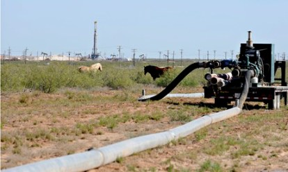 Shortage of water and fracking in Texas