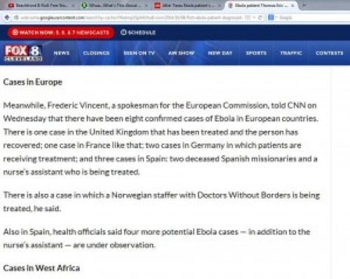 CNN page Europe cases