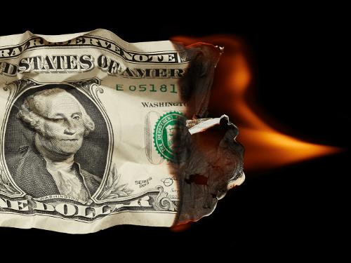 burning dollar dollar photo club