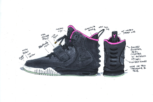 Nike Air Yeezy Ii Design Sketches