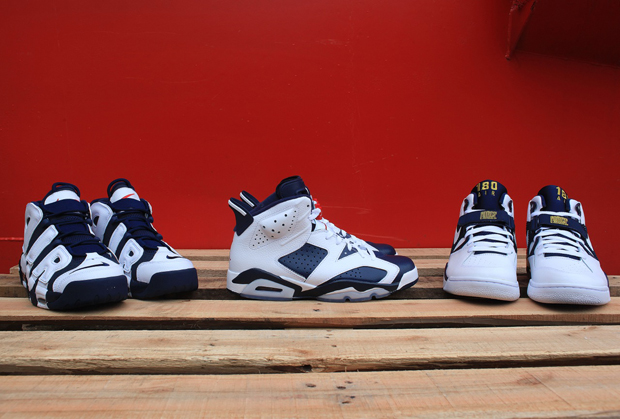check out 837e8 8f656 Nike Basketball Olympic Collection - Air Force 180, Air Jordan VI ...
