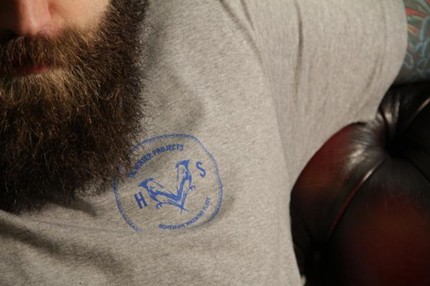 Halvo Shores Grey Coin Logo Tee Close2