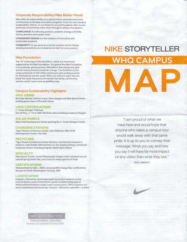 Nike Storyteller Whq Campus Map 2012