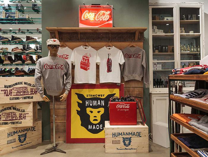Human Made x Coca-Cola display Present London 01