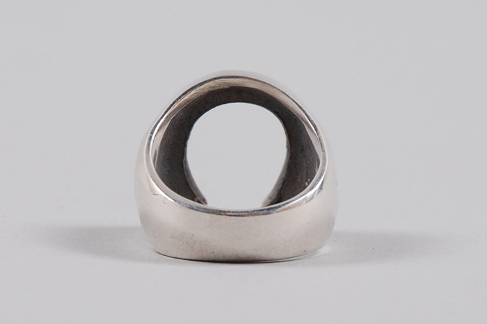 Dog State Silver Mens Horse Shoe Ring 03