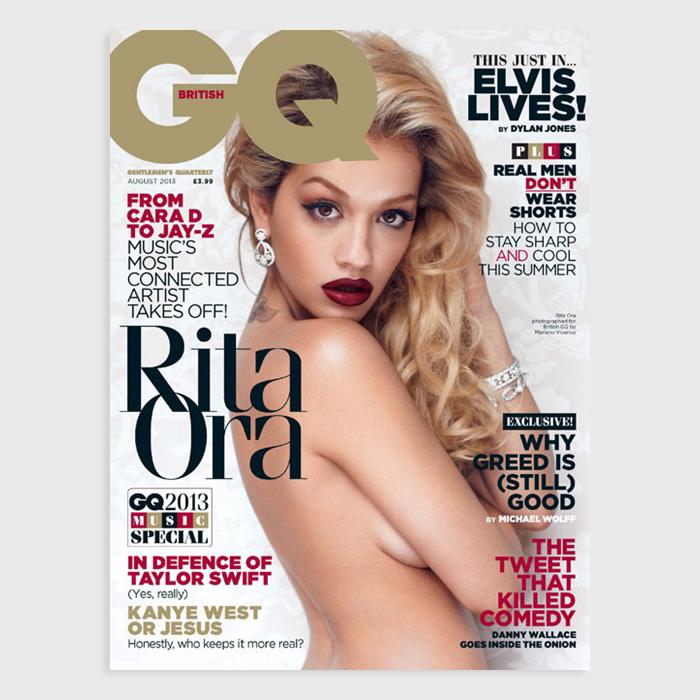 Rita Ora covers August 2013 issue British GQ 02