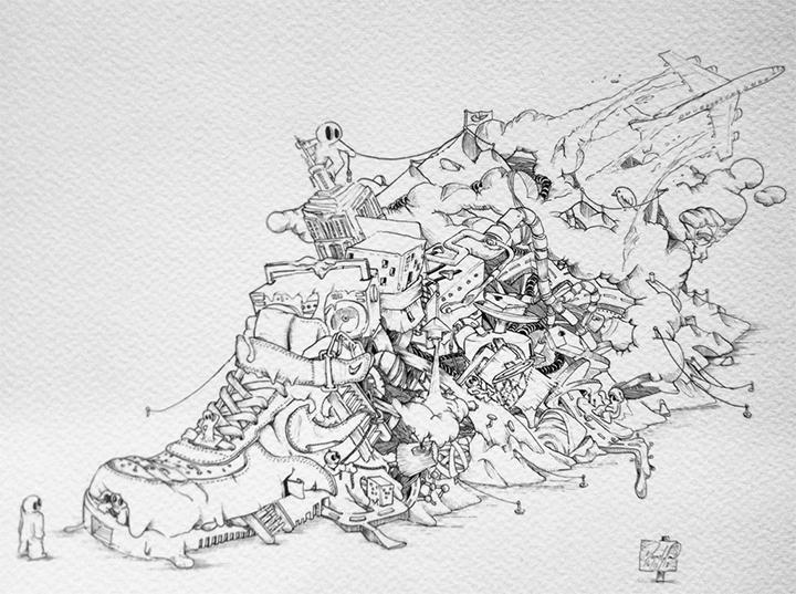 Nike Air Force 3D print scultpure Damilola Odusote Jon Fidler 002
