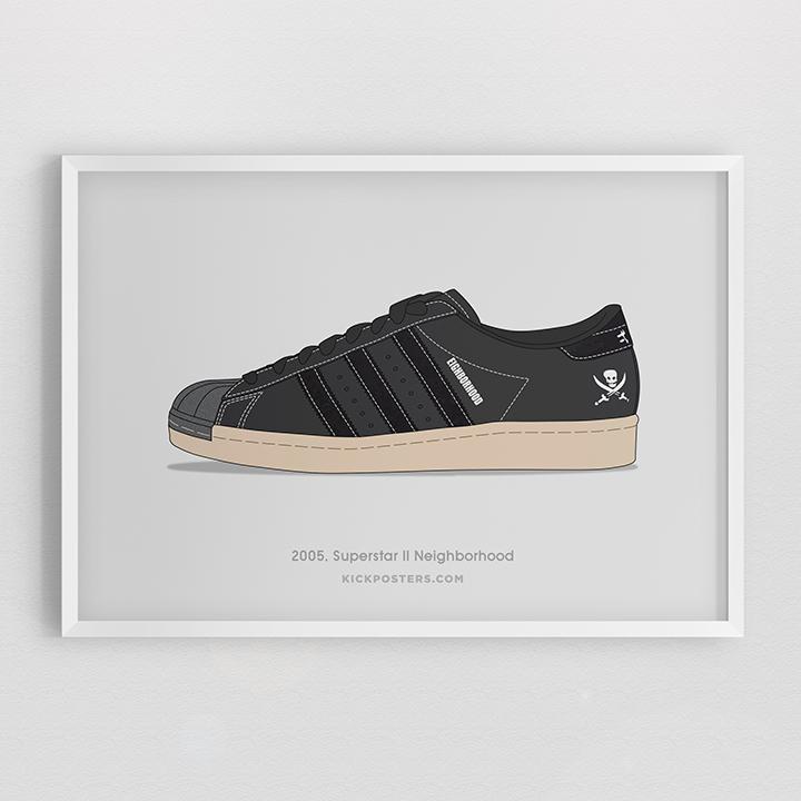Kick Posters adidas Superstar 35th Consortium series Neighborhood