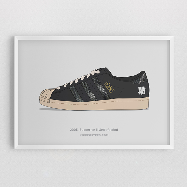 Kick Posters adidas Superstar 35th Consortium series Undefeated