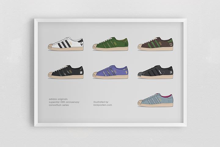 Kick Posters adidas Superstar 35th Consortium series