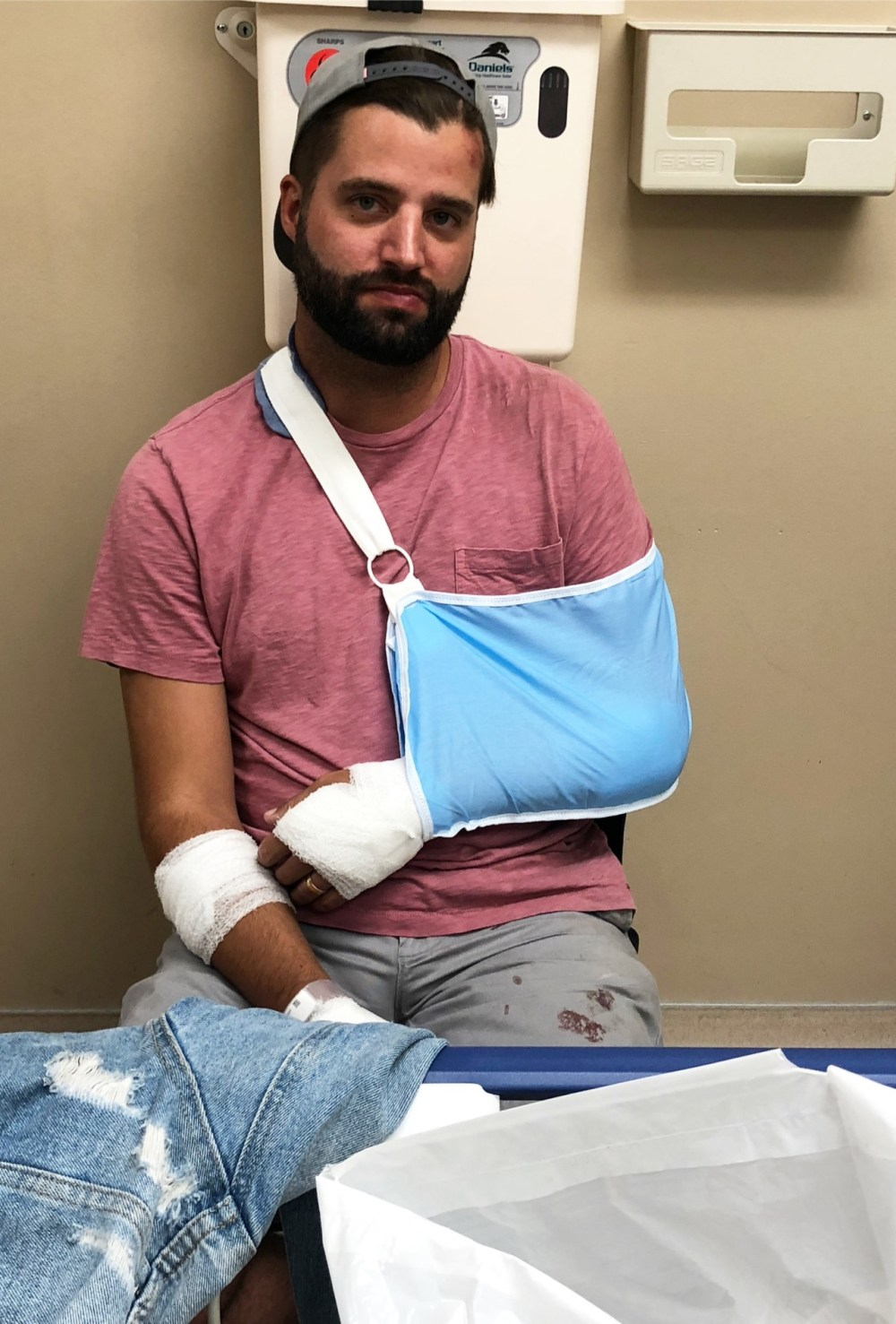 A Sunday Visit To The ER and Dealing With Road Rash