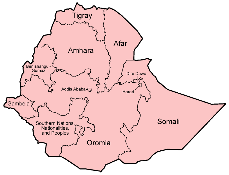 Image via Wkipedia https://upload.wikimedia.org/wikipedia/commons/0/05/Ethiopia_regions_english.png
