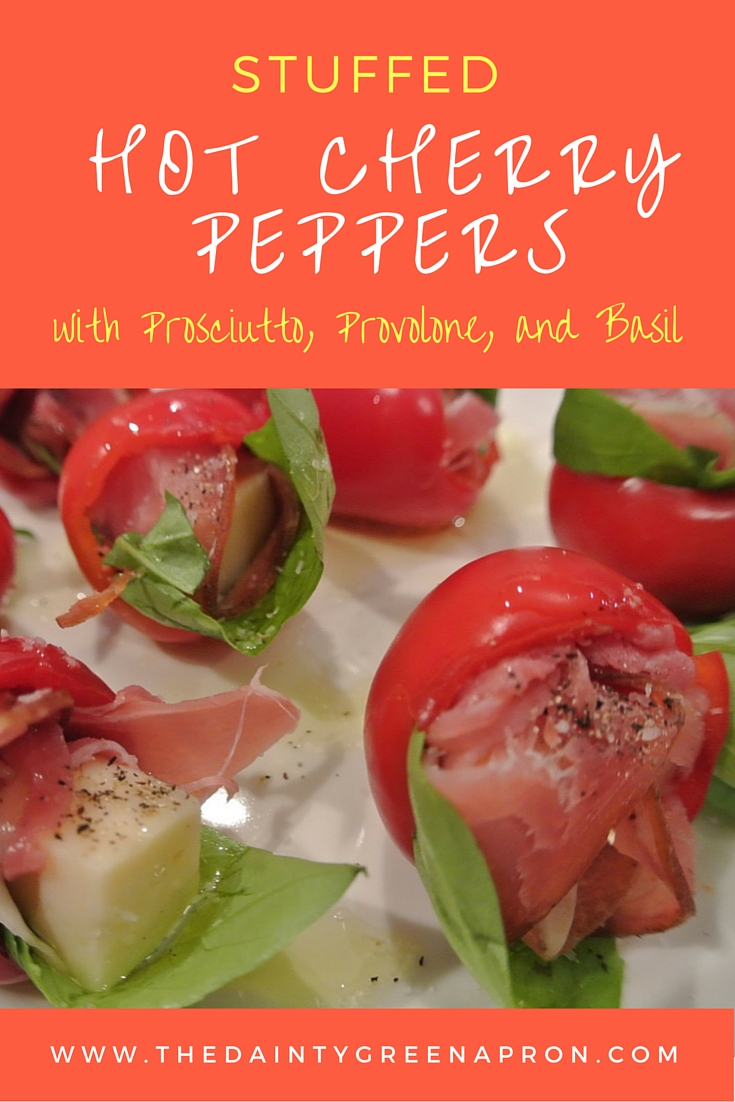 Stuffed Hot Cherry Peppers with Prosciutto, Provolone, and Basil