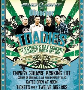 Toadies Concert – St. Patricks Day Parade