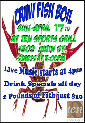 Crawfish Boil at Ten Sports Grill