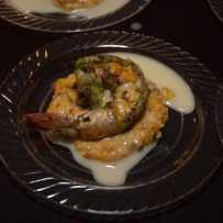 Grilled Jumbo Shrimp over Grits