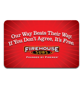GIVEAWAY: $20 Gift Card to Firehouse Subs