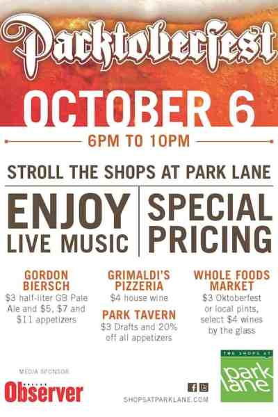 Parktoberfest in October at The Shops at Park Lane
