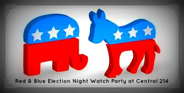 Red & Blue Election Night Watch Party at Central 214