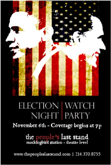 The People's Last Stand Hosts Election Night Watch Party