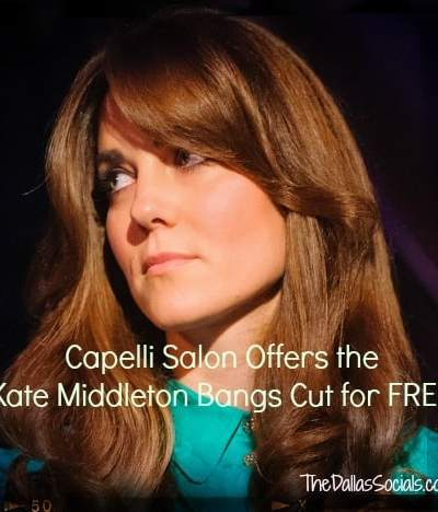 Capelli Salon Offers the Kate Middleton Bangs Cut for FREE