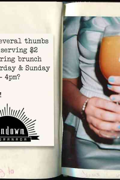Sundown Offers $2 Mimosas on their Brunch Menu