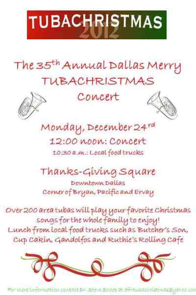 35th annual Dallas Merry TUBACHRISTMAS concert
