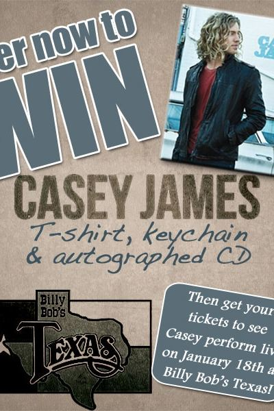 Casey James Performs at Billy Bob's Texas on January 18th