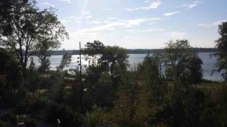 White Rock Lake View from Rory Meyers Children Adventure Garden in Dallas.