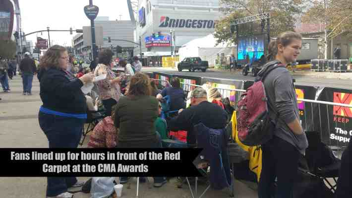 Fans line up at the Red Carpet hours before the CMA Awards begin - The Dallas Socials