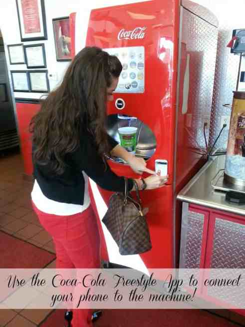 Use the Coca Cola Freesyle App to connect your phone to the machine! #technology