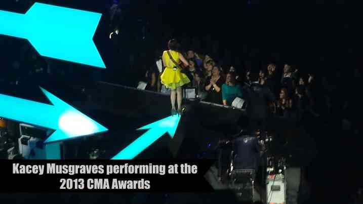 Kacey Musgraves performing at the 2013 CMA Awards - The Dallas Socials