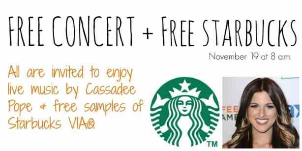 Starbucks Offers Free Cassadee Pope Concert in Dallas
