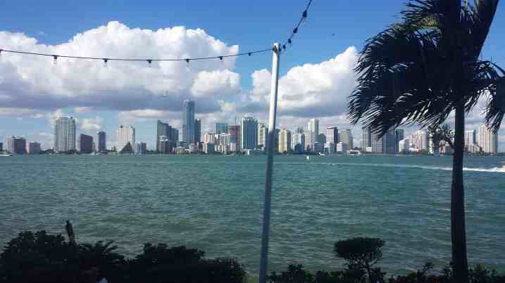 View of Downtown Miami from The Rusty Pelican