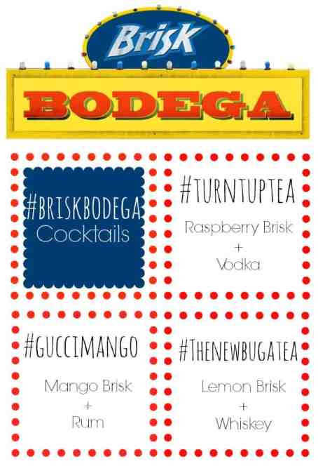 Cocktails using Brisk Bodega
