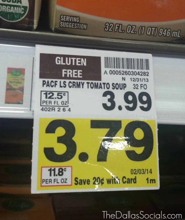 Gluten Free Products are clearly marked on tags for easy shopping at Kroger.