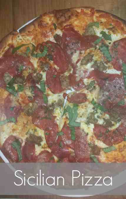 Sicilian Pizza from CPK is spicy and packed full of flavor. #pizza #food