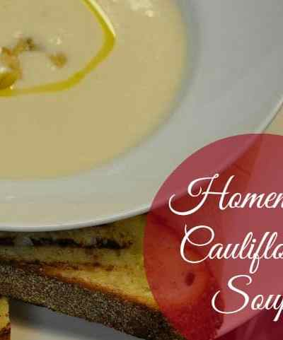 Homemade Cauliflower Soup Recipe from Battuto Italian Kitchen