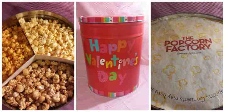 Happy Valentine's Day Popcorn Tins from Popcorn Factory
