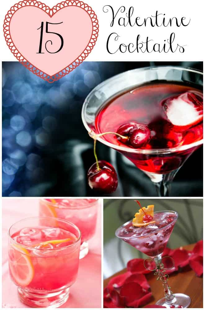 15 Delicious Valentine's Day Cocktails #recipes #drinks #cocktails #love
