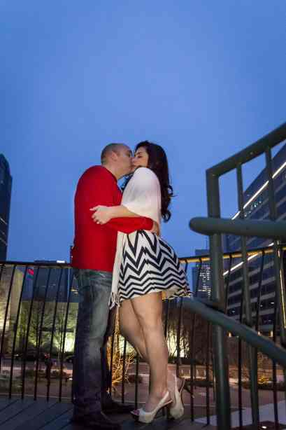 Dallas Engagement Pictures taken by Hornbuckle Creative at Klyde Warren Park. #dallas #wedding