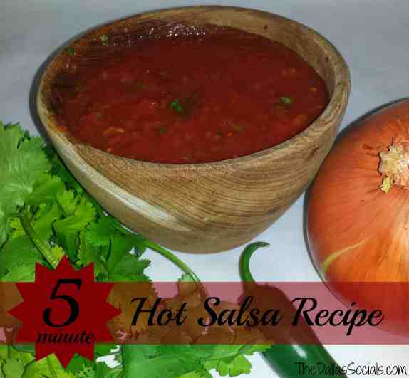 5 minute Hot Salsa Recipe #mexican #recipes #foodporn