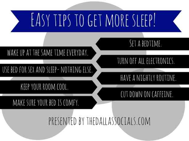 Easy Tips to get more sleep!